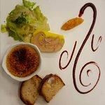 duo foie gras et sa crème brulé