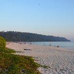 very clean beach