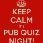 Last Sunday of every month is our pub quiz!