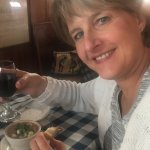 Soup and wine at Harbor View Cafe
