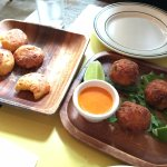 Cheese bread and fish balls