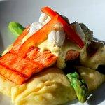 Salmon Oscar with Lump Crab Meat
