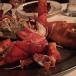 4 Pound Lobster for the table to go with our steaks!
