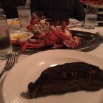 NY Strip and a 4 pound lobster - Heaven!