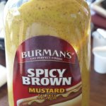 Goes well with Kielbasa, but I didn't find it too spicy - mainly wholegrain mustard mixed with d