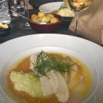 Pan fried pike-perch, cabbage, smoked butter sauce and dill potatoes