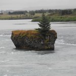 The rock in the river