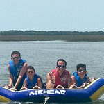 Tubing rocks!!!! These boys were livin' it up with Mark and Davis taking them on the best ride!