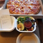 Medium size pizza $15.99 & a Princess Salad 8.99
