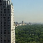 The view over Central Park from the Parker Meridien roof