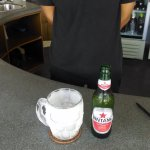 Great combo for relaxing pool-side on a sunny Bali afternoon - ice cold Bintang in a frozen mug