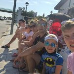 Waiting for free bus to marineland