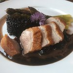The duck with black rice and wicked delicious sauce