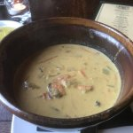 Curry flavored mussel chowder