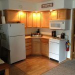 Den 3 kitchenette stocked with dish/bake/cookware