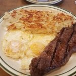 NY Steak and Eggs. Steak very tough.