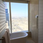 Fantastic view from glass bathroom.