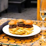 Great Sliders and Parmesan Truffle Fries