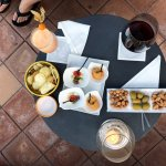 Drinks and snacks at the bar adjacent to Oliviero Restaurant
