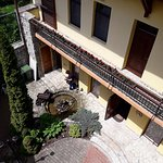 View from room 21 terrace in inner courtyard