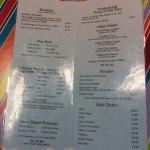 Kidzplay menu
