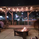 This is the patio area with the bonfire!