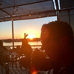 Dinner at sunset on the patio!