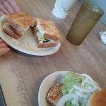 Cheeseburger and grilled tenderloin sandwiches