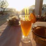 Fresh orange juice at Sunset