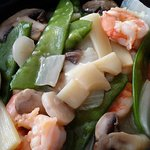 Shrimp with Chinese vegetables