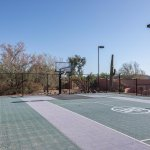 multi sport court - full court basketball, badminton, volleyball, paddle tennis