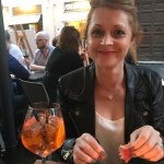 Wife enjoying some aperitif.. and of course aprol spritz
