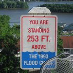 253 feet above the flood crest of 1993, record flooding that year