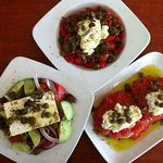 three of our greek salads