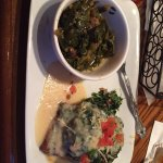 Salmon Rockefeller with collard greens - amazing!