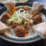 Falafel and hummus, OMG, so good.