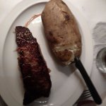 10 oz New York steak & baked potato