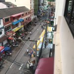 Looking down on Soi Sansabai from the penthouse.