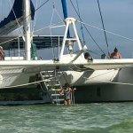 2e stop de la journée en catamaran