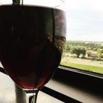 Necessary glass of red from the Honour Bar in the concierge lounge
