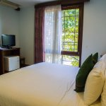 The deluxe double bed room, it has window opening to the city view
