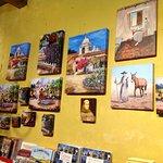 Paintings at souvenir shop