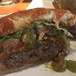 Side view of my hamburger