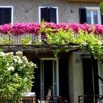Casa Delle Rosa from the garden, main bedroom windows and balcony.