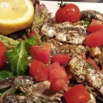 fresh fish with tomatoes