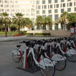 BikeShare in front of hotel