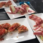 Bruschette, Serranoschinken mit köstlicher Melone