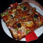 Veg Italia Bread Pizza - Crispy, Cheesy, Tangy, Exotic