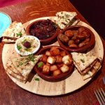 Tasty platter of starters and plenty of pitta