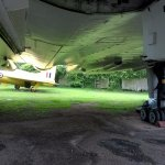 Midland Air Museum - under the Vulcan (sheltering from the rain!)